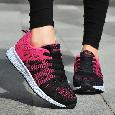 MUQGEW 2019 Spring Women Running Sneakers  Shoes Fashion Mesh Lightweight Gym Sneakers Casual chaussures femme Sneakers Shoes