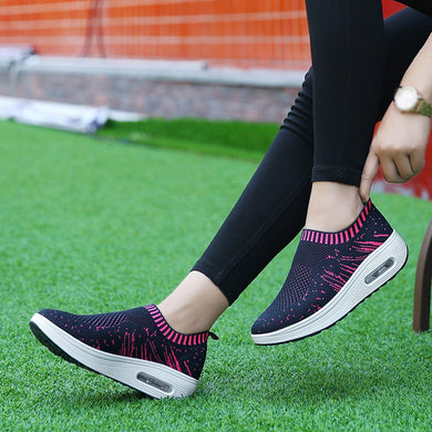 Women Outdoor Mesh Casual Sports Shoes Thick-Soled Air Cushion Shoes Sneakers for dropshipping 20180823