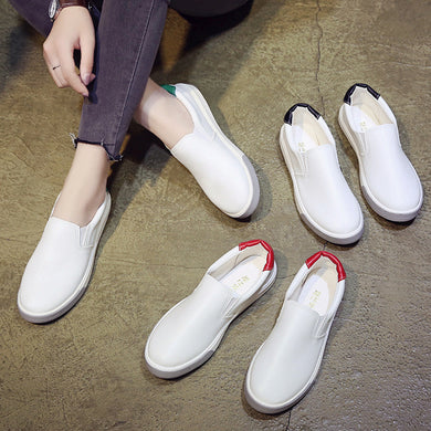 YOUYEDIAN Women White Shoes sneakers women breathable white  platform 2018 comfortable  Shoes Round Platform Flat ##*