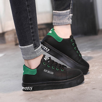 YOUYEDIAN Women Sneakers 2019 Black Lace Up Platform Sneakers Ladies Casual Shoes Women Flat Shoes Zapatillas Mujer