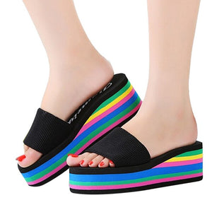 Colorful Foam shoes Casual Wedge Slippers Women Shoes Sandals Summer Shoes Female Fashion WOMEN