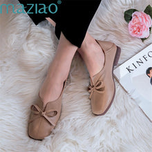 Load image into Gallery viewer, Sneakers Butterfly-knot Fashion Flats Casual Breathable Shoes Woman Shallow Mouth Non-slip Shoes MAZIAO