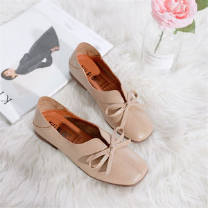 Sneakers Butterfly-knot Fashion Flats Casual Breathable Shoes Woman Shallow Mouth Non-slip Shoes MAZIAO