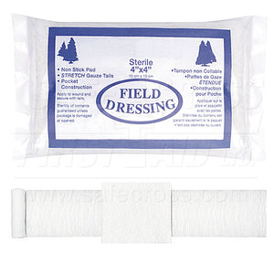 "Bandage - Compress Field Dressings - Sterile 4"" X 4"""