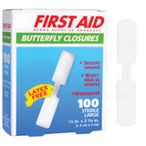 "Bandage - Adhesive Butterfly Skin Closures 3/8"" X 1-3/4"" (100)"