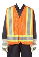 CSA Safety Tear-away Vest Orange