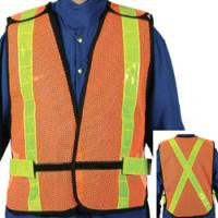 Daytime Traffic Safety Vest - 5 Point Tear-Away (Bulk 25/Case)