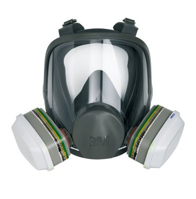 3m 6800 Gas Mask Medium Full Facepiece Reusable Respirator Workplace Safety Supplies
