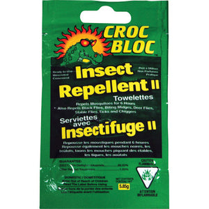 Croc Bloc Insect Repellent Towelettes