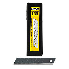 LBB-50B OLFA® 18mm black ultra-sharp snap-off Blades, 50 pack