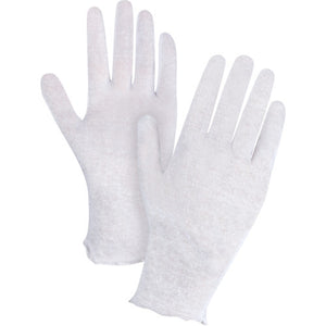 Poly/Cotton Inspection Gloves, Unhemmed