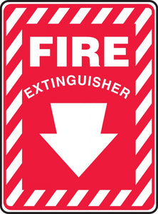 Plastic Fire Extinguisher Sign
