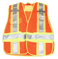 TGVEST-005 MESH TEARAWAY VEST ORANGE