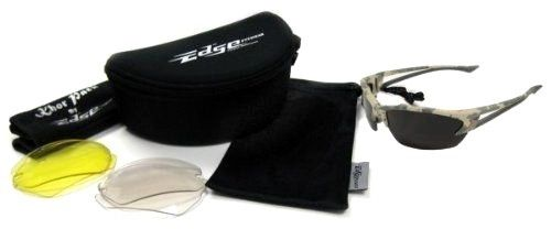 Edge Khor Polarized Safety Glasses Kit with Forest Camo Frame