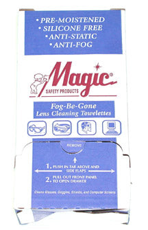 TW100DS Anti-Fog Lens Cleaning Towelettes (100/Box)