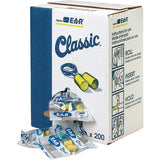 Earplugs 3M™ E-A-R™ Classic Disposable 311-1101 Pair/Poly Bag 200/Box (NRR29)
