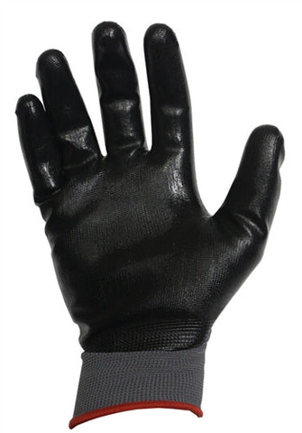 Tuff Grade Glove Polyester Shell Nitrile Palm (pair)