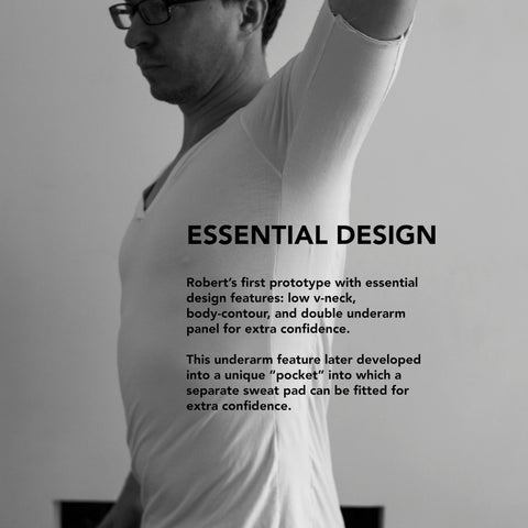 Essential Designs - The prototype Oxford undershirts with double panels underarm