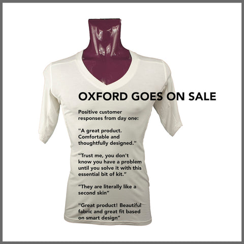 The Oxford undershirt went on sale and received great reviews from customers.