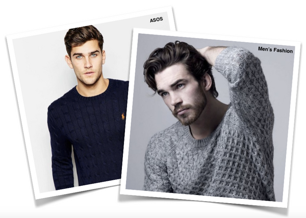 Picture of men wearing jumpers from ASOS and Men's Fashion