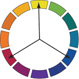 Colour wheel triad
