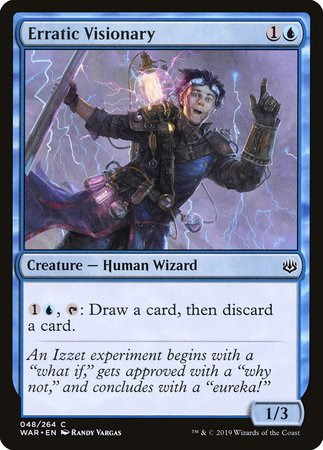 Erratic Visionary [War of the Spark] | Eastridge Sports Cards & Games
