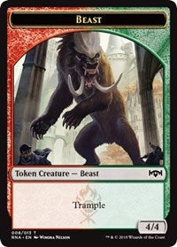Beast Token [Ravnica Allegiance Tokens] | Eastridge Sports Cards & Games