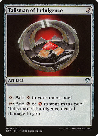 Talisman of Indulgence [Archenemy: Nicol Bolas] | Eastridge Sports Cards & Games