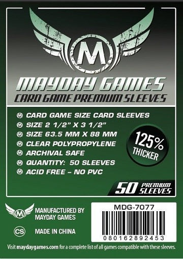 Mayday PREMIUM CARD SLEEVES 63.5MM X 88MM 50CT | Eastridge Sports Cards & Games