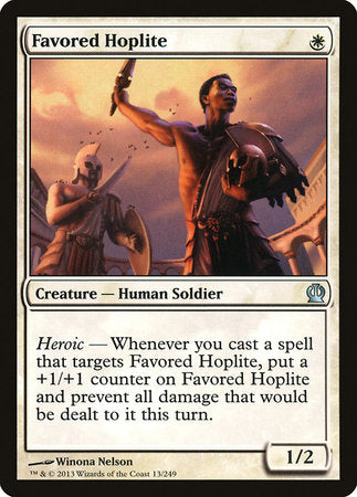 Favored Hoplite [Theros] | Eastridge Sports Cards & Games