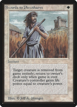 Swords to Plowshares [Limited Edition Beta] | Eastridge Sports Cards & Games