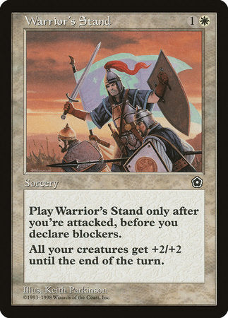 Warrior's Stand [Portal Second Age] | Eastridge Sports Cards & Games