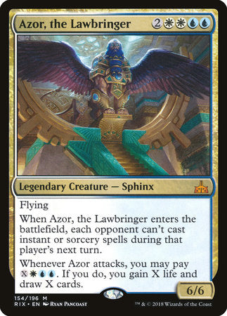 Azor, the Lawbringer [Rivals of Ixalan] | Eastridge Sports Cards & Games