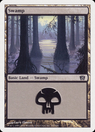 Swamp (342) [Eighth Edition] | Eastridge Sports Cards & Games