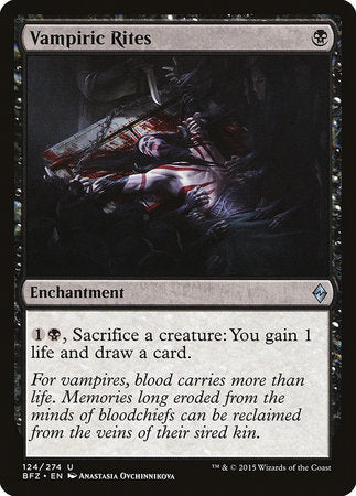 Vampiric Rites [Battle for Zendikar] | Eastridge Sports Cards & Games