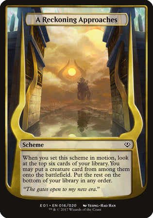A Reckoning Approaches (Archenemy: Nicol Bolas) [Archenemy: Nicol Bolas Schemes] | Eastridge Sports Cards & Games