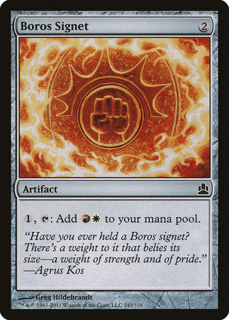 Boros Signet [Commander 2011] | Eastridge Sports Cards & Games