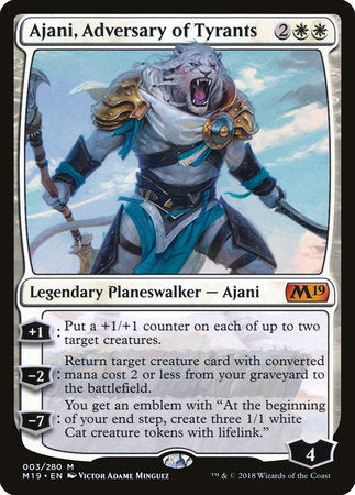 Ajani, Adversary of Tyrants [Core Set 2019] | Eastridge Sports Cards & Games