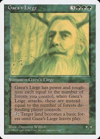 Gaea's Liege [Fourth Edition] | Eastridge Sports Cards & Games