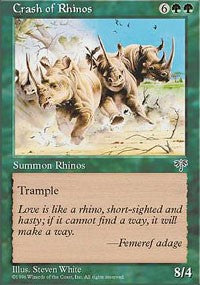 Crash of Rhinos [Mirage] | Eastridge Sports Cards & Games