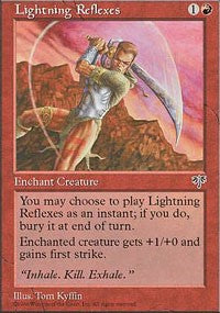 Lightning Reflexes [Mirage] | Eastridge Sports Cards & Games