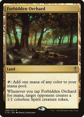 Forbidden Orchard [Commander 2016] | Eastridge Sports Cards & Games