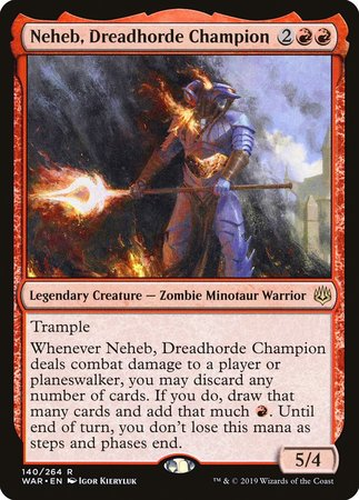 Neheb, Dreadhorde Champion [War of the Spark] | Eastridge Sports Cards & Games