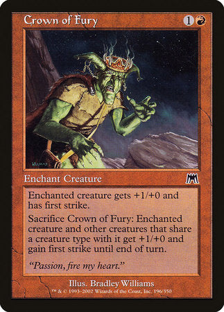 Crown of Fury [Onslaught] | Eastridge Sports Cards & Games