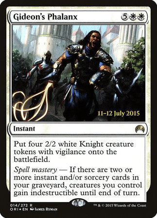 Gideon's Phalanx [Magic Origins Promos] | Eastridge Sports Cards & Games