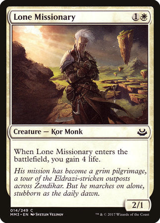 Lone Missionary [Modern Masters 2017] | Eastridge Sports Cards & Games