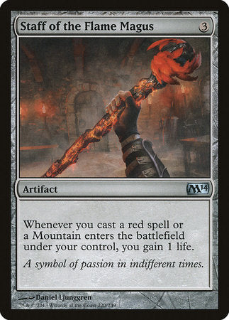 Staff of the Flame Magus [Magic 2014] | Eastridge Sports Cards & Games