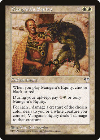 Mangara's Equity [Mirage] | Eastridge Sports Cards & Games