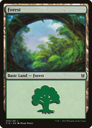 Forest (350) [Commander 2016] | Eastridge Sports Cards & Games