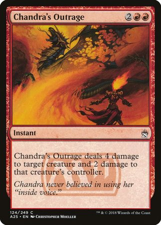 Chandra's Outrage [Masters 25] | Eastridge Sports Cards & Games
